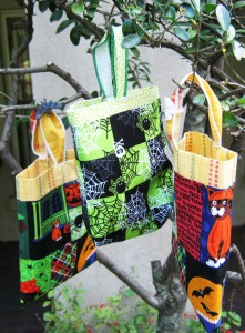 Hand sewn treat bags made by Christine Ingram