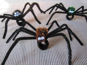 Spooky spider rings made by Amanda Grazow and her friend's children