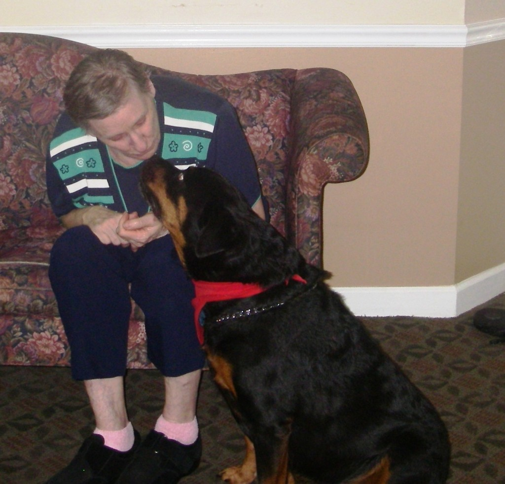 """""""I love Carle because she is a real gem. What an angel she is. She kisses me and gives me her paw. She is a little doll...well, not so little."""" ~Carol Horne"""